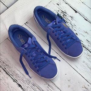 Women Puma Vicky Baja Blue & White size 9